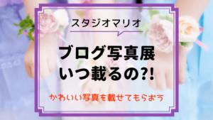 【スタジオマリオ】ブログ写真展に載らない!いつ公開?載せる方法を解説!