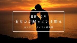あなたが眠っている間に(韓国ドラマ)あらすじ・キャスト相関図!