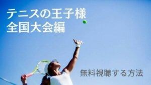 テニスの王子様全国大会編をファイナルまで無料視聴する方法!