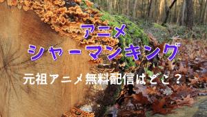 アニメシャーマンキング元祖アニメが見れる無料動画はどこあ?